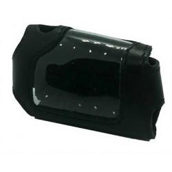 кожаный чехол starline a93 чёрный для брелка на кнопке оплётка