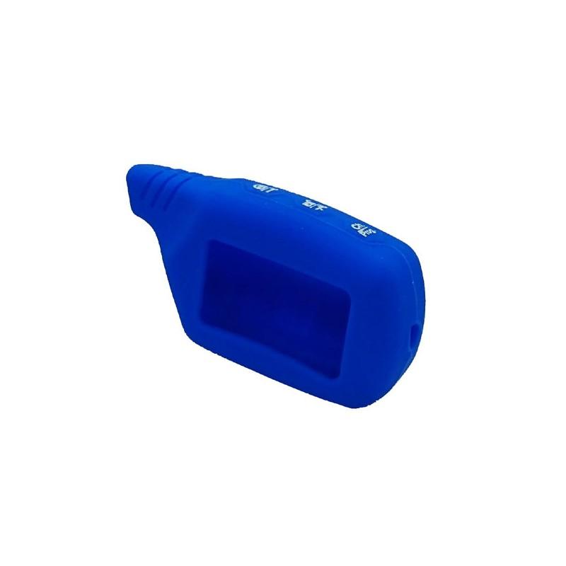 чехол на брелок starline a91 /A61/B91/B61/B9/B6/v7 синий силиконовый