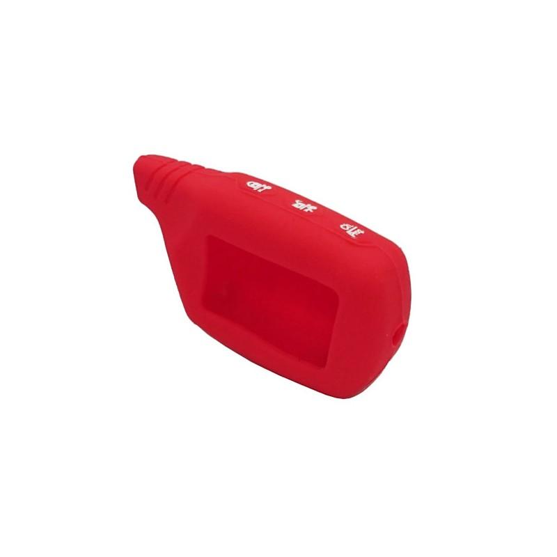 чехол на брелок starline a91 /A61/B91/B61/B9/B6/v7 красный силиконовый