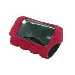 Красный замшевый чехол Starline a91 на кнопке